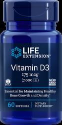 Vitamin D3      175 mcg (7000 IU), 60 softgels L.E.