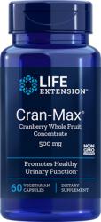 Cran-Max® Cranberry Whole Fruit Concentrate      500 mg, 60 capsules L.E.