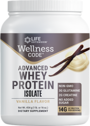 Whey Protein Isolate (Natural Vanilla Flavor)454 grams (1 lb. or 16 oz.), Life Extension