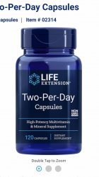 Two-Per-Day Tablets120 tablets Life Extension