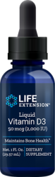 Liquid Vitamin D3  2,000 IU 1 fl. oz. (29.57 ml), Life Extension