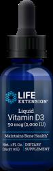 Liquid Vitamin D3  2,000 IU 1 fl. oz. (29.57 ml), Life Extension