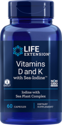 Vitamins D and K with Sea-Iodine™60 capsules Life Extension