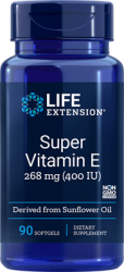 Super Vitamin E      268 mg (400 IU), 90 softgels Life Extesnion