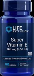 Super Vitamin E      268 mg (400 IU), 90 softgels Life Extesnion