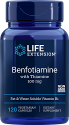 Benfotiamine with Thiamine 100 mg 120 vegetarian capsules Life Extension