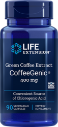 CoffeeGenic® Green Coffee Extract 400 mg 90 vegetarian capsules  Life Extension