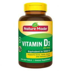 Nature Made Vitamin D3 25 mcg., 650 Softgels
