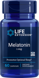 Melatonin 1 mg 60 capsules    Life Extension