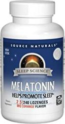 Source Naturals Sleep Science Melatonin 2.5mg Orange Flavor - 240 Lozenges