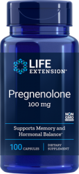 Pregnenolone, 100 mg, 100 Capsules, Life Extension