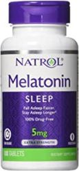 Natrol, Melatonin TR, Time Release, 5 mg, 100 Tablets