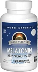 Source Naturals Melatonin 2.5mg, 240 Tablets Peppermint