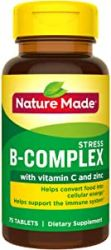 Nature Made Stress B-Complex Vitamin C e Zinc, 75 Tbs
