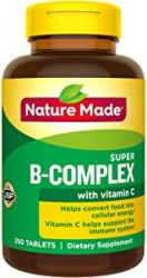Nature Made Super B-Complex Tablets with Vitamin C and Folic Acid, 250 Count for Metabolic Health†