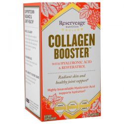 ReserveAge Nutrition, Collagen Booster with Hyaluronic Acid & Resveratrol, 60 Capsules
