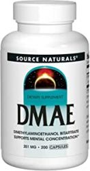 Source Naturals, DMAE, 351 mg, 200 Tablets