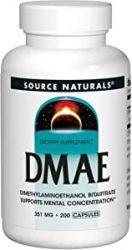 Source Naturals, DMAE, 351 mg, 200 Tablets