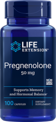 Pregnenolone 50 mg 100 capsules  Life Extension