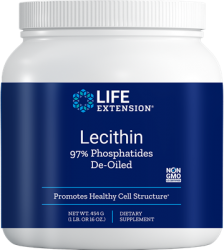 Lecithin 97% Phosphatides De-Oiled Net Wt. 454 g (1 lb. or 16 oz.) Life Extension