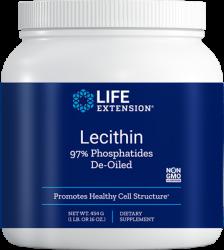 Lecithin 97% Phosphatides De-Oiled Net Wt. 454 g (1 lb. or 16 oz.) Life Extension