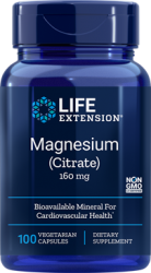 Magnesium (Citrate) 160 mg, 100 vegetarian capsules Life Extension