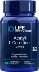 Acetyl-L-Carnitine 500 mg 100 capsules Life Extension