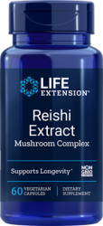 Reishi Extract Mushroom Complex 60 vegetarian capsules  Life Extension