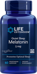 Quiet Sleep® Melatonin  5 mg, 60 vegetarian capsules Life Extension
