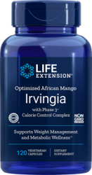Optimized African Mango Irvingia with Phase 3™ Calorie Control Complex 120 capsules Life Extension