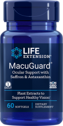 MacuGuard® Ocular Support with Astaxanthin  60 softgels  Life Extension