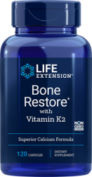 Bone Restore with Vitamin K2 120 capsules, Life extension