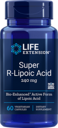 Super R-Lipoic Acid  240 mg, 60 vegetarian capsules Life Extension