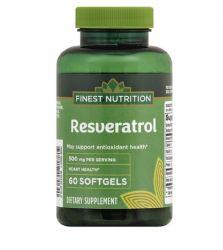 Finest Nutrition Resveratrol 500 mg 60 Softgels Extra Strength