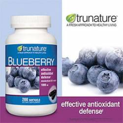 trunature® Blueberry Extract Softgels 1000 mg, 200 Softgels