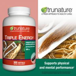 trunature® Triple Energy Ginseng with Eleuthero 300 mg., 300 Softgels