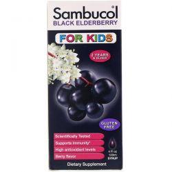 Sambucol, Black Elderberry Syrup, For Kids, Berry Flavor, 4 fl oz (120 ml)