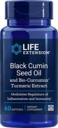 Black Cumin Seed Oil and Bio-Curcumin® Turmeric Extract      60 softgels