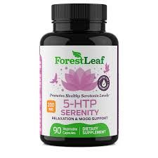 5-HTP Serenity Daily Serotonin Supplement   by ForesLeaf 200 mg 90 V-Caps