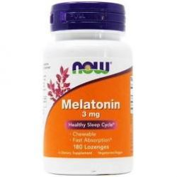 Now Foods Melatonin - 3 mg - 180 Lozenges chewable fast absorption
