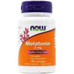 Now Foods Melatonin - 3 mg - 180 Lozenges chewable fast absorption