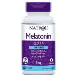 Natrol Melatonin Time Release 5 mg., 250 Tablets - TIME LELEASE