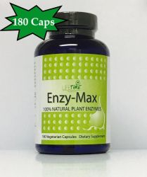 Enzymax - Natural plant enzymes 180 capsules LIFE TIME