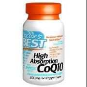 Doctors Best High Absorption CoQ10 with BioPerine (600 mg)   60 VCaps