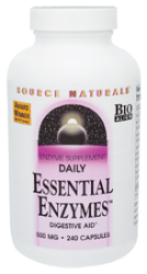 Source Naturals Daily Essential Enzymes™ -- 500 mg - 240 Vegetarian Capsules