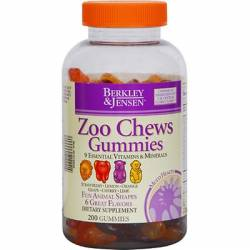 Berkley & Jensen Zoo Chews Gummies Multivitamins - 200 Count
