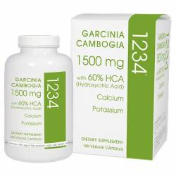 Creative Bioscience Garcinia Cambogia 1234, 1,500mg, 180 Count