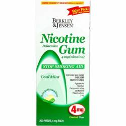 Berkley & Jensen 4mg Cool Mint Nicotine Gum - 100 Count, 2-Pk.