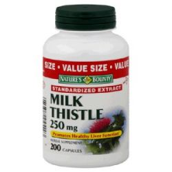 Milk Thistle 250 mg, 200 Capsules  Nature