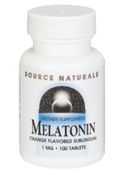 Source Naturals Melatonin Sublingual Orange -- 1 mg - 100 Tablets